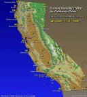Map- Current Humidty for California